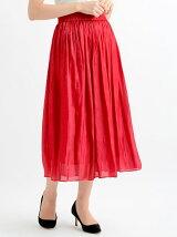 グロッシーサテンロングスカート