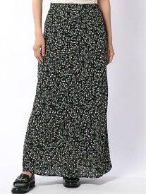 Lugnoncure Lugnoncure/小花柄シフォンマーメイドスカート テチチ スカート スカートその他 ブラック ブラウン【送料無料】