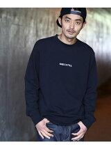 【WEB限定】<ユニセックス> ロゴ刺繍クルーネックスウェット