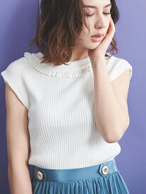 Noela クロシェフリルハイネックニット ノエラ ニット【送料無料】
