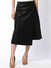 Lugnoncure Techichi/フェイクレザーフレアスカート テチチ スカート フレアスカート ブラック ブラウン【送料無料】