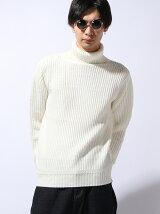 【WEGO】(M)両畦ハイネックセーター