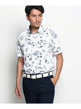 リゾートトラベルモチーフジャージシャツ