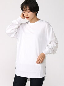 GLOBAL WORK (W)BEAUTEEラウンドヘムTU グローバルワーク カットソー Tシャツ ホワイト パープル ブラック ベージュ
