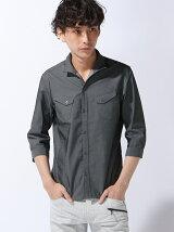 7分袖イタリアンカラーシャツ