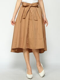 Janiss リボン付きフレアスカート ジャニス スカート フレアスカート ベージュ レッド カーキ ブラック