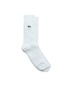 LACOSTE 3×2リブクルーソックス ラコステ ファッショングッズ ソックス/靴下 ホワイト ブラック グレー ネイビー