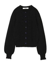 FURFUR 透かし編み刺繍カーディガン ファーファー ニット カーディガン ブラック グレー ブルー【送料無料】