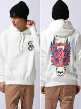 FTC XLARGE WH PO HOOD SWEAT BULLDOGS ART