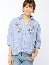 胸刺繍スキッパーシャツ