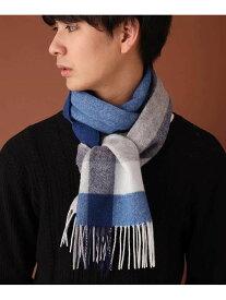 【SALE/60%OFF】MK MICHEL KLEIN homme マフラー/チェック ミッシェルクランオム ファッショングッズ ストール ブルー パープル