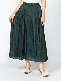 Te chichi Techichi/オーロラサテンギャザースカート テチチ スカート ロングスカート グリーン パープル ブラウン【送料無料】