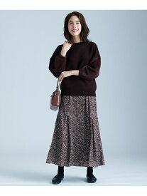 【SALE/50%OFF】any FAM 【洗える】ニュアンスドットプリント スカート エニィファム スカート スカートその他 ブラウン ブラック