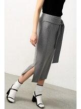 リボンミディタイトスカート