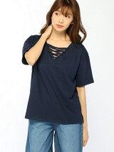 2WAYレースアップTシャツ