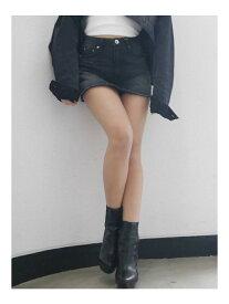 GYDA スカートライクショーパンツ ジェイダ スカート デニムスカート ブラック ブルー【送料無料】