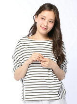 40/2天竺ボーダーコクーン変形P/O