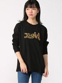 X-girl LEOPARD LOGO L/S REG エックスガール カットソー Tシャツ ブラック パープル ホワイト【送料無料】
