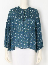 CHAMOMILE PRINT Gather Blouse