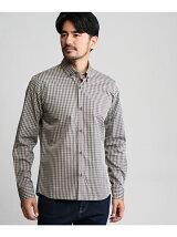 ワイドギンガムチェックボタンダウンシャツ