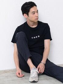 【SALE/50%OFF】coen 【MENS】coenチビロゴTシャツ コーエン カットソー Tシャツ ブラック ホワイト