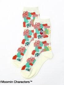 Afternoon Tea Moomin×AfternoonTea/ソックス アフタヌーンティー・リビング ファッショングッズ ファッショングッズその他 ホワイト ネイビー