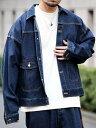 coen 【WEB限定】スーパービッグシルエットデニムジャケット(セットアップ対応)(Gジャン)# コーエン コート/ジャケッ…