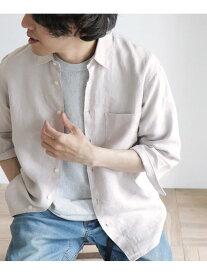 【SALE/40%OFF】DOORS Linen 7分袖Shirts アーバンリサーチドアーズ シャツ/ブラウス シャツ/ブラウスその他 ホワイト ブラック ブルー【送料無料】