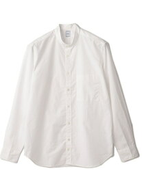 【SALE/40%OFF】SHIPS DC:バンドカラーソリッドシャツ シップス シャツ/ブラウス 長袖シャツ ホワイト【送料無料】