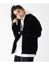 WEB限定 袖スター刺繍ボアジップスタンドジャケット