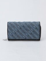 MOUSSY/QUILTING WALLET FLAP SHOULDER