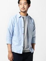 BEAMS / トリコロール パイピング 7分袖シャツ