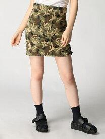 Janiss 迷彩サイドレースアップSK ジャニス スカート ミニスカート カーキ【送料無料】