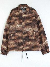 RNA アニマルパターンコーチシャツジャケット アールエヌエー コート/ジャケット コート/ジャケットその他 ブラウン【送料無料】