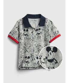 【SALE/20%OFF】GAP (K)babyGap   Disney ミッキーマウス ピケポロシャツ ギャップ カットソー キッズカットソー グレー