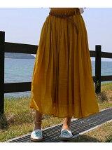 メッシュベルト付きスカート
