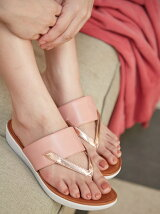 (W)DELTA TOE-THONG SANDALS-LEATHER/MIRROR