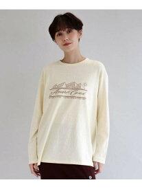aquagirl AMERICANA ロングTシャツ アクアガール カットソー Tシャツ イエロー グレー【送料無料】
