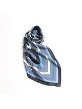 幾何柄シルクスカーフ