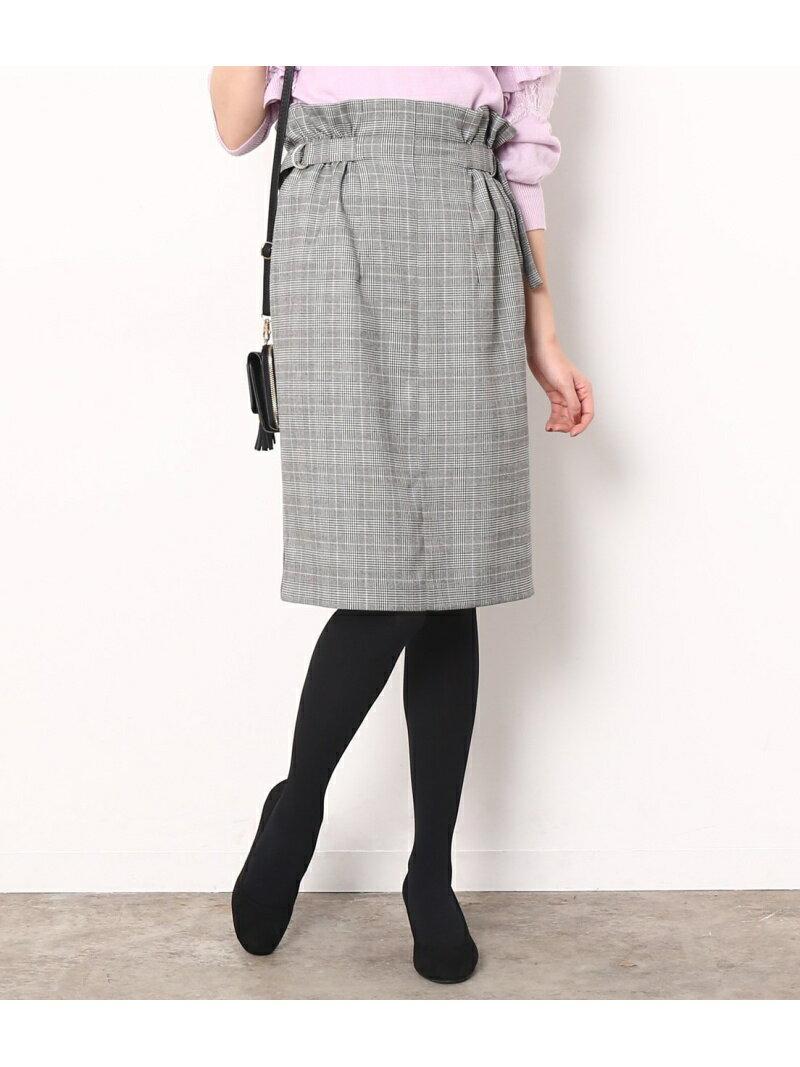 【SALE/50%OFF】ViS チェックサイドベルトタイトスカート ビス スカート【RBA_S】【RBA_E】