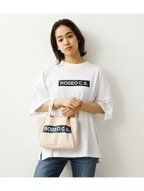【SALE/30%OFF】RODEO CROWNS WIDE BOWL (WEB限定)BOX LOGOTシャツ&ミニトート ロデオクラウンズワイドボウル バッグ バッグその他 ホワイト ブラック ネイビー