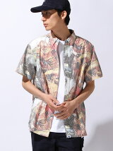 S/S ALLOVER STRIPED SHIRT
