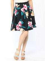 グログラン花柄プリント54丈スカート