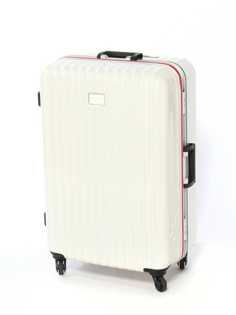 BENETTON 静走ラインキャリーバッグ・スーツケース(L)容量約80L 静音 ベネトン【送料無料】