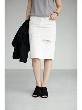 WHTデニムクラッシュタイトスカート