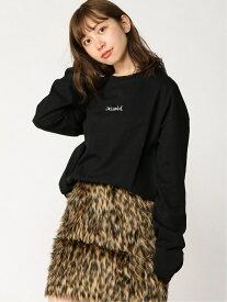 X-girl MILLS LOGO L/S TEE エックスガール カットソー Tシャツ ブラック ホワイト【送料無料】