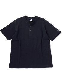 SHIPS RUSSELLATHLETIC×SHIPS:別注ヘンリーネックTシャツ シップス シャツ/ブラウス ワイシャツ ネイビー ホワイト ブラック ブラウン グリーン【送料無料】
