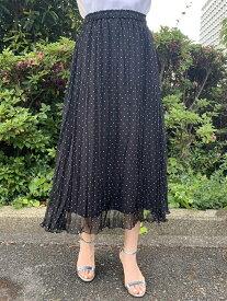 【SALE/60%OFF】QUEENS COURT クリンクルプリーツロングスカート クイーンズコート スカート ロングスカート ブラック ピンク カーキ ホワイト