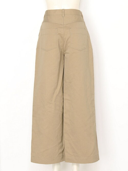 COTTON LINEN TWILL Wide Pants