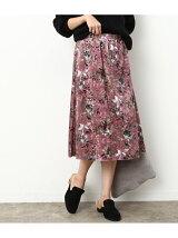 ベロアギャザースカート